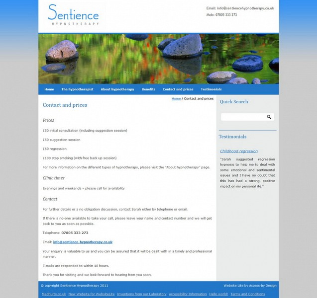 sentiencehypnotherapy.co.uk Images